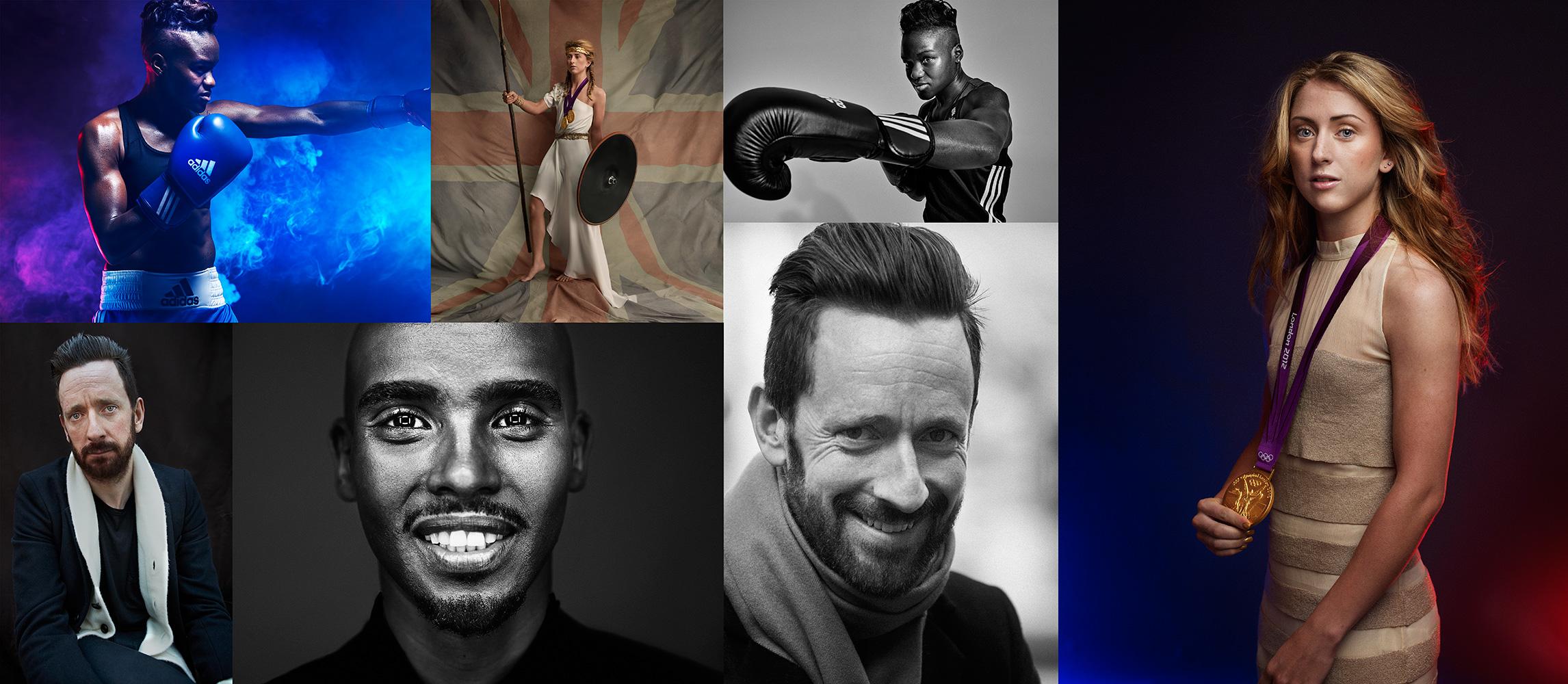 Olympians - Nicola Adams, Laura Yrott, Bradley Wiggins, Mo Farah