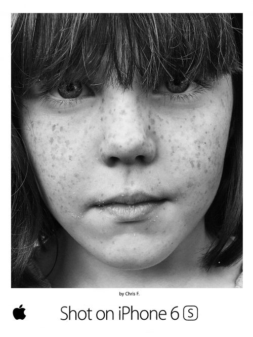 Photograph 2016 Chris Floyd Frecklehead Frecklehead  - Apple;iPhone;Freckles;Girl;Portrait