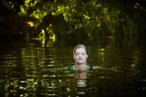 Photograph Copyright © Chris Floyd Alexandra Heminsley Alexandra Heminsley - Female;Portrait;Swimming;Lake;Writer;Author;Location