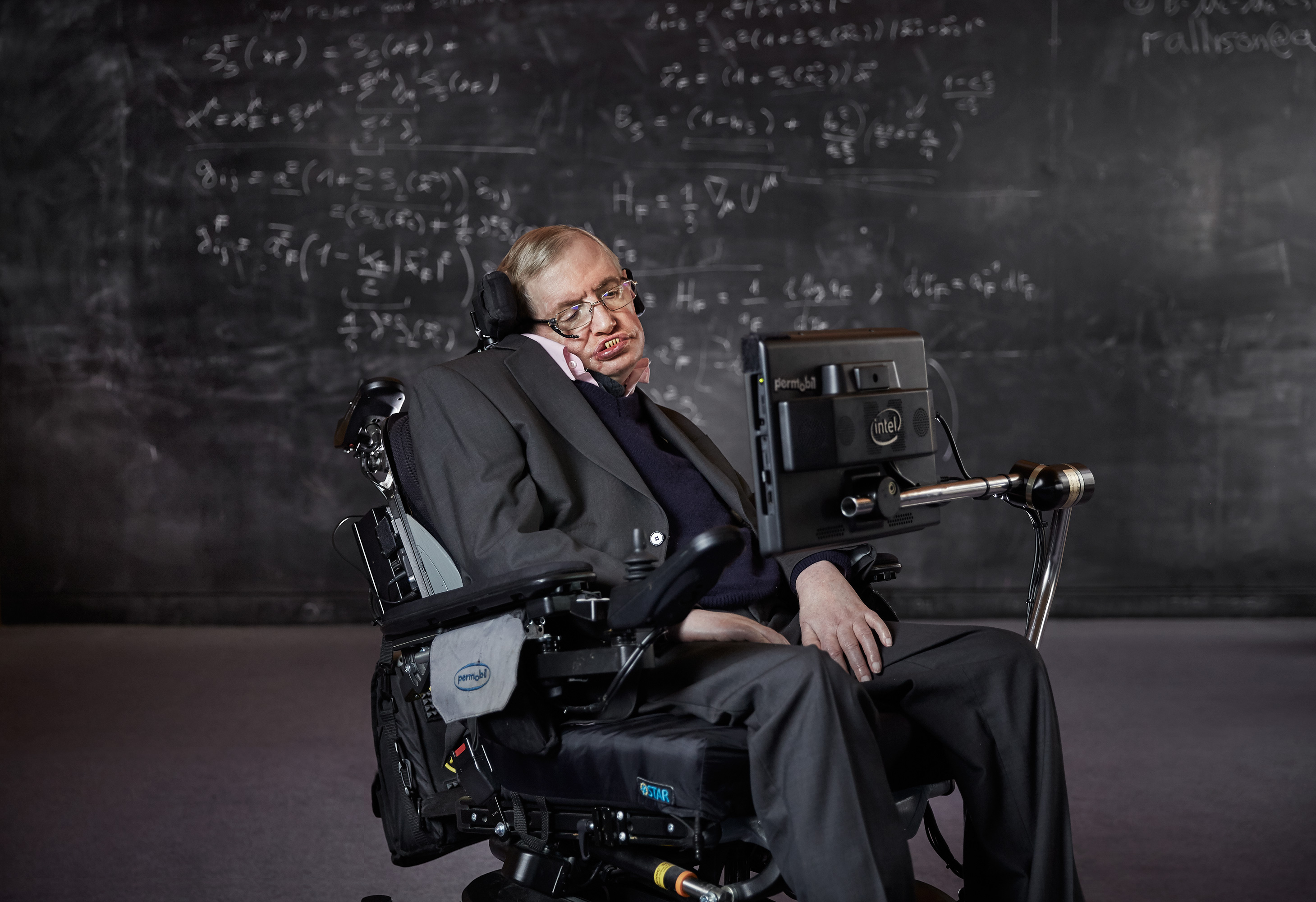 Photograph Copyright © Chris Floyd Professor Stephen Hawking Professor Stephen Hawking - Male;Portrait;Location;Scientist;Science;Genius;Paralysed;ALS;Motor;Neurone;Disease;MND